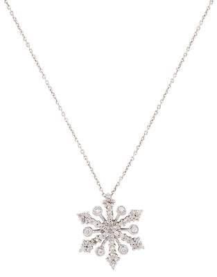 Roberto Coin 18K Diamond Tiny Treasures Snowflake Pendant Necklace