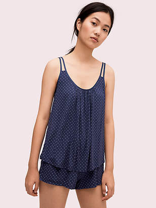 d9ba2a788 Kate Spade Pin Dot Short Pj Set, Navy - Size XS