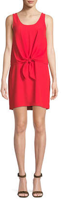 Amanda Uprichard Harbor Sleeveless Tie-Front Short Dress
