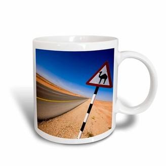 Aldo 3drose 3dRose Oman, Marmul, Road sign of camel crossing-AS27 APA0127 Pavan, Ceramic Mug, 15-ounce