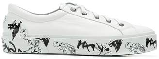Lanvin printed sole sneakers