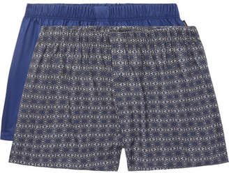 Hanro Two-Pack Cotton Boxer Shorts