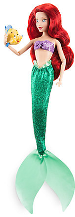 Ariel Classic Doll with Flounder Figure - 12''