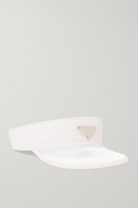 Prada Canvas-trimmed Pvc Visor - White