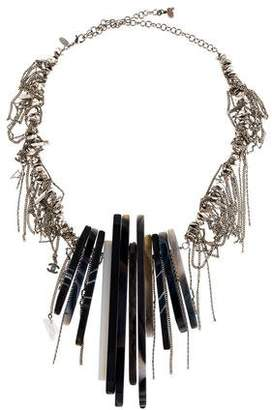 Chanel Agate & Draped Chain Collar Necklace