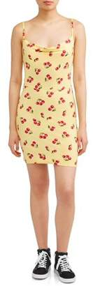 Poof Apparel Juniors' Cherry Print Mini Dress