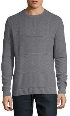 Black & Brown Black Brown Mixed Pattern Crewneck Sweater