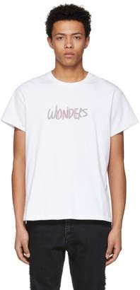 Wonders SSENSE Exclusive White Reflective Logo T-Shirt