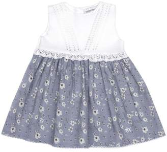 Armani Junior Sleeveless Floral Print Dress