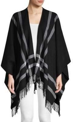 Amicale Border Double-Faced Merino Wool Ruana