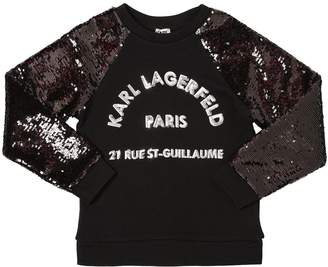 Karl Lagerfeld Sequined Cotton Sweatshirt