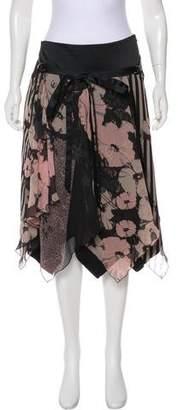Just Cavalli Handkerchief Hem Knee-Length Skirt