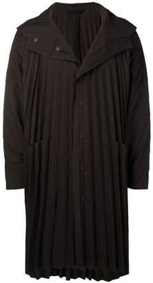 Issey Miyake Homme Plissé pleated hooded coat