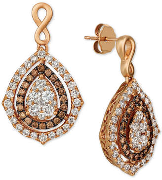 4077492f9 LeVian Le Vian Nude Diamonds & Chocolate Diamonds Fancy Drop Earrings (2-1/