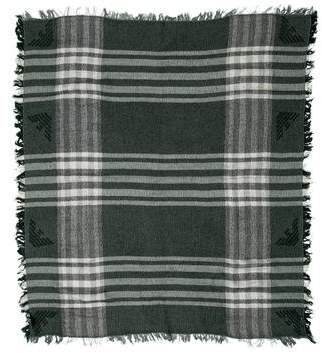 Armani Junior Boys' Plaid Knit Scarf