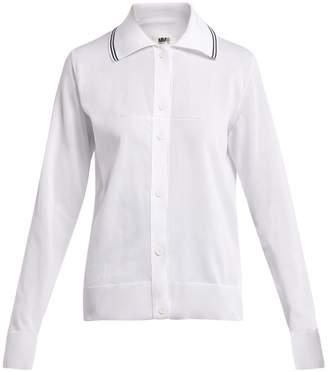 MM6 MAISON MARGIELA Long-sleeved knitted polo shirt