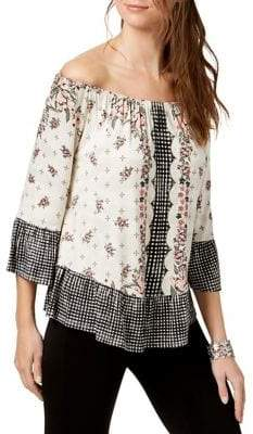 Style&Co. Style & Co. Petite Off-The-Shoulder Flounced Top