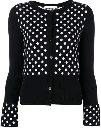 Moschino polka dot cardigan