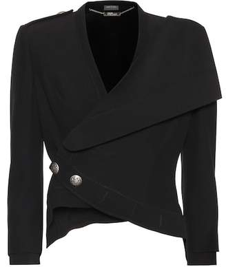 Alexander McQueen Cropped crêpe jacket