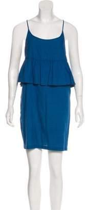 Creatures of Comfort Casual Mini Dress Blue Casual Mini Dress