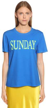 Alberta Ferretti Sunday Cotton Jersey T-Shirt