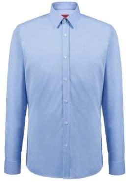 HUGO Boss Extra-slim-fit shirt in cotton poplin 15.5 Light Blue