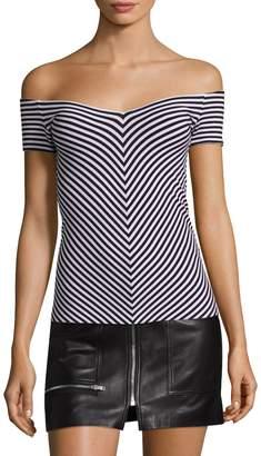 Bailey 44 Women's Reversible Stripe Off Shoulder Top
