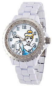 Disney Women's White Enamel Cinderella Watch $59.99 thestylecure.com