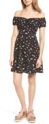 Women's Soprano Off The Shoulder Skater Dress $49 thestylecure.com