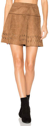 ale by alessandra x REVOLVE Mayte Skirt in Brown $158 thestylecure.com