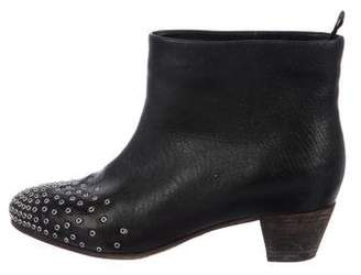 See by Chloe Leather Embellished Ankle Boots