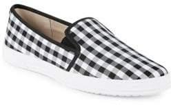 Anne Klein Zandrie Gingham Slip-On Sneakers