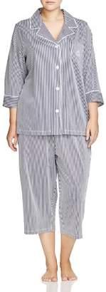 Ralph Lauren Plus Bingham Knits Capri Pajama Set