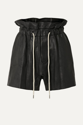 Bassike Leather Shorts - Black