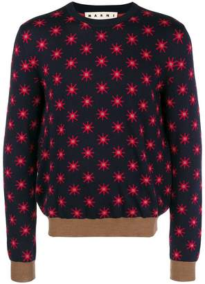 Marni star patterned jumper