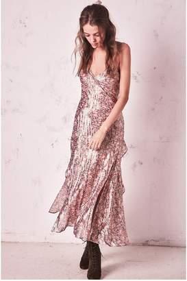 LoveShackFancy Kate Ruffle Slip Dress