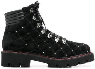 Baldinini quilted mountain boots