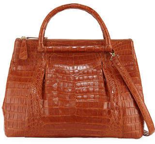 Nancy Gonzalez Large Crocodile Plisse Tote Bag