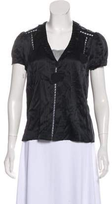 Marc Jacobs Pleat-Accented Silk Blouse