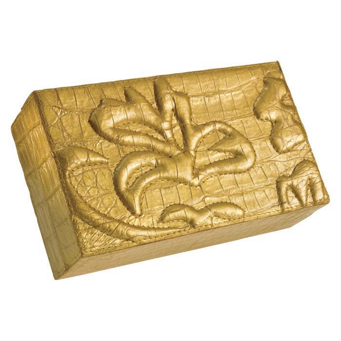Gold Box Clutch by Nancy Gonzalez