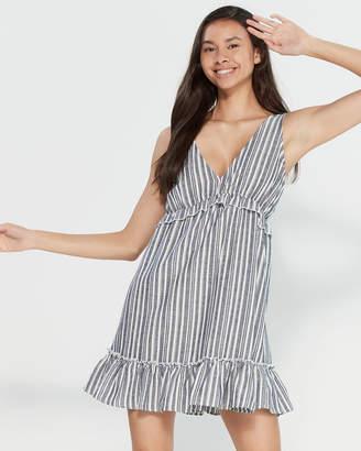 The Vanity Room Stripe Ruffle A-Line Dress
