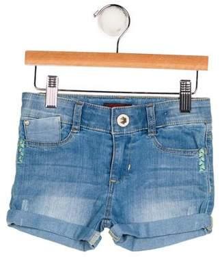 Catimini Girls' Denim Mini Shorts