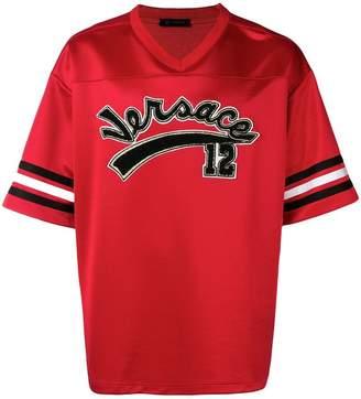 Versace V-neck varsity T-shirt