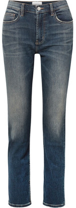 Current/Elliott The Stovepipe High-rise Straight-leg Jeans - Mid denim
