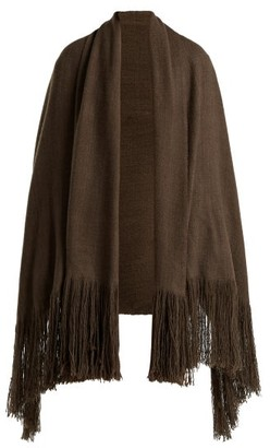 Denis Colomb Fringed Cashmere Shawl - Womens - Khaki