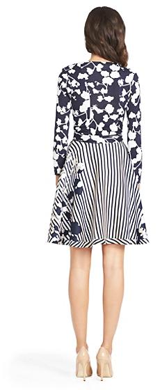 Diane von Furstenberg Amelia Silk Combo Flared Wrap Dress