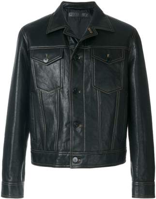 Neil Barrett contrast stitch jacket