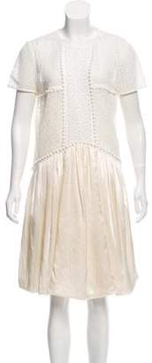Burberry Lace Knee-Length Dress w/ Tags
