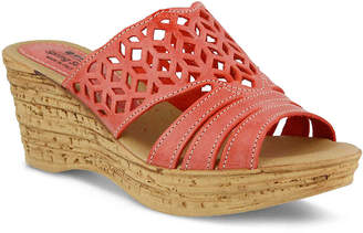 30e5973a6585 Red Cork Wedge Women s Sandals - ShopStyle