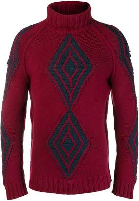 Etro roll neck diamond knit sweater